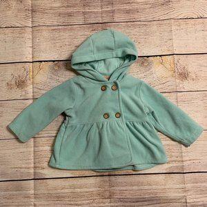 Carter's Teal Fleece Pea Coat